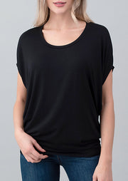Natural Vibe Dolman Tee (Black)