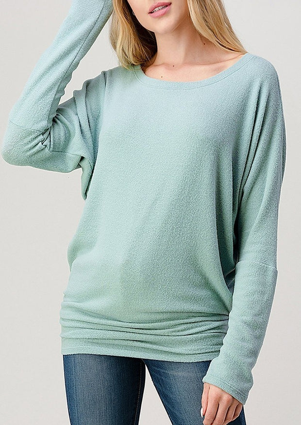 Natural Vibe Brushed Top (Mint)