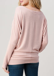 Natural Vibe Brushed Top (Baby Pink)