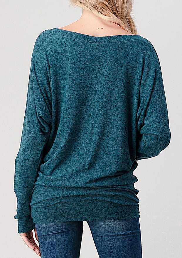 Natural Vibe Brushed Top (Teal)