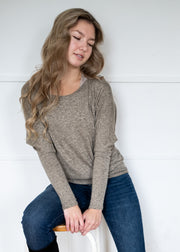 Natural Vibe Knit Long Sleeve (Taupe)