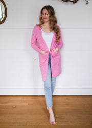 My Cozy Heather Cardigan (Pink)
