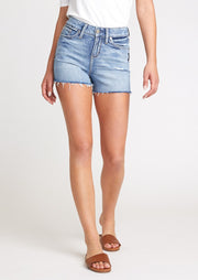 Silver High Rise Avery Short