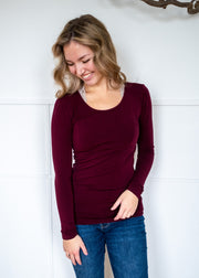 C'est Moi Bamboo Scoop Neck Top (3 colours)