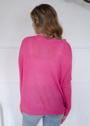 My Cozy Light Knit Sweater (Pink)