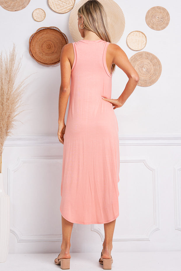 Jolie Midi Easy Dress (Peach)