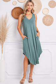Jolie Midi Easy Dress (Pine)