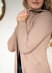 My Cozy Ribbed Cardi (Taupe)