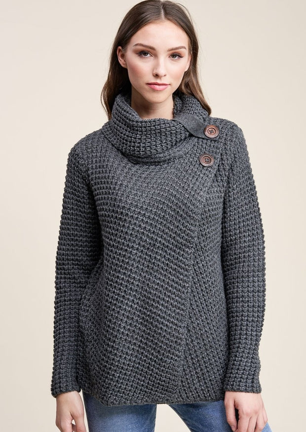 Staccato Snuggle Up Sweater (Charcoal)