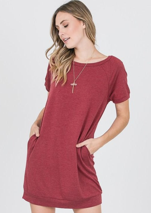 Emma's Closet French Terry Tunic (Wine)