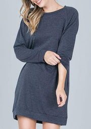 Emma's Closet French Terry Tunic (Navy)