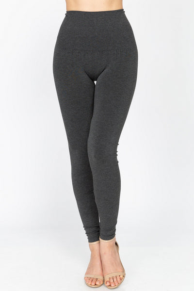 M Rena Tummy Tuck Legging (Heather Charcoal)