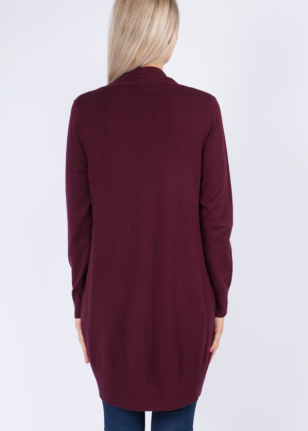 Dreamy Lightweight Cardigan (Heather Plum)