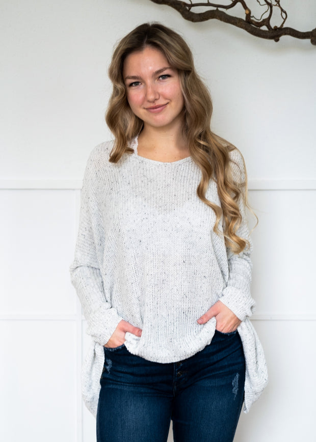 My Cozy Easy Days Sweater (White)