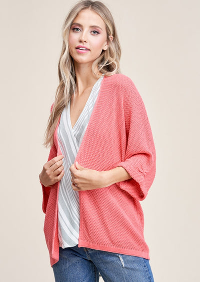 Staccato Ariel Cardigan (Coral)