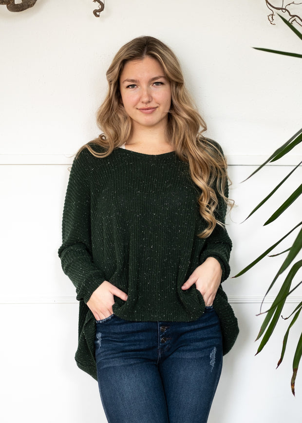 My Cozy Easy Days Sweater (Hunter Green)