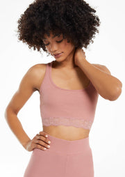 Z Supply Clara Rib Bralette (Rose Blossom)