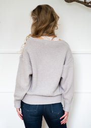 My Cozy Snuggly V Sweater (Grey)