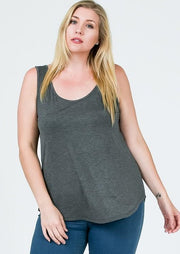 Emma's Closet Plus Size Scoop Tank (2 colours)