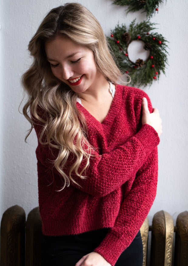 HYFVE Chenille Sweater (Red)