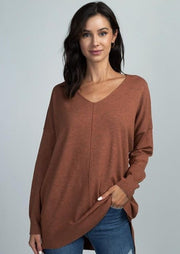 Dreamers Comfy As Can Be Sweater (Heather Ginger)