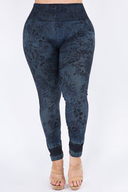 M Rena PLUS SIZE Paisley Denim Legging