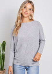 Jolie All Day Slouch Top (Grey)