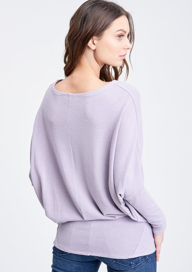 Jolie All Day Slouch Top (Lavender)