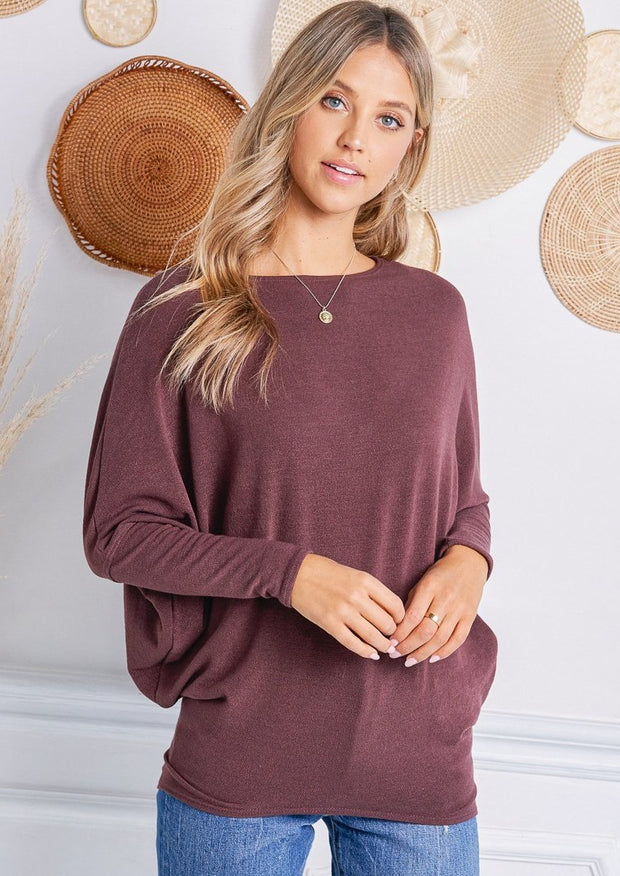Jolie All Day Slouch Sweater (Raisin)