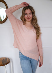 My Cozy Spring Sweater (Soft Pink)