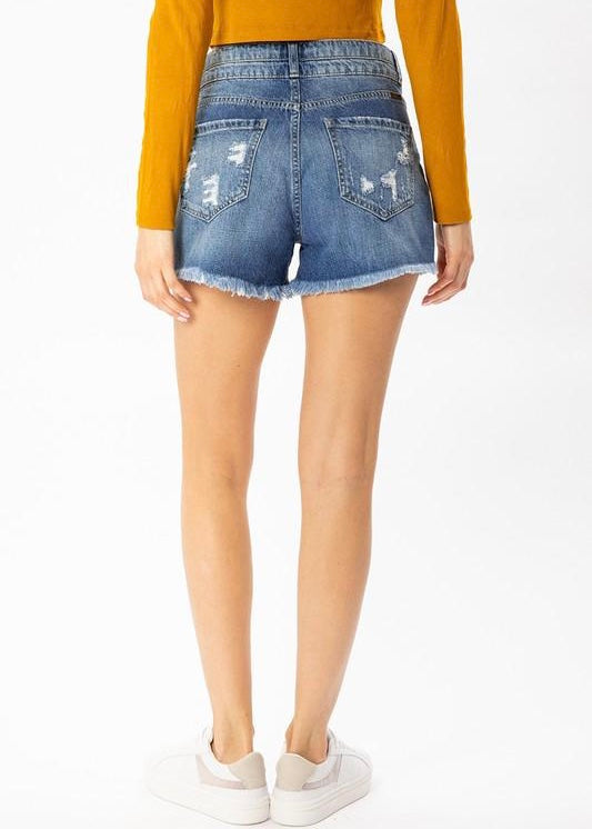 Kancan High Rise Mom Shorts