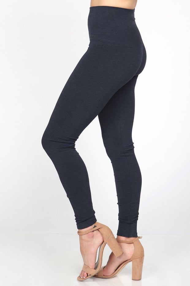 M Rena Tummy Tuck Legging (Heather Navy)