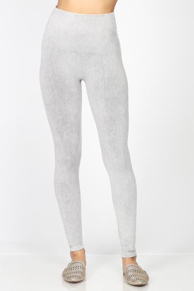 M Rena Mineral Wash Legging (Vintage Light Grey)