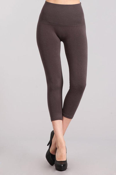 M Rena Tummy Tuck Crop Legging (Dark Grey)