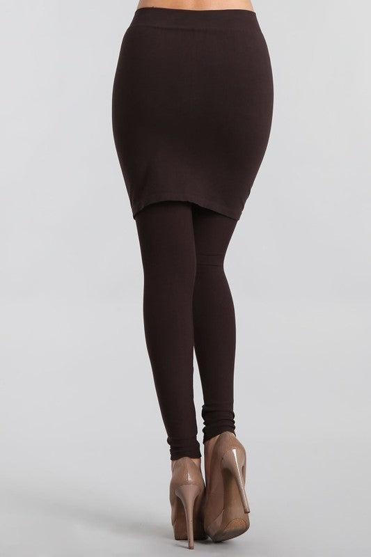 M Rena 2-in-1 Skirt Legging (Black)