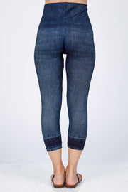M Rena Cropped Sublimation Leggings (Blue Denim)