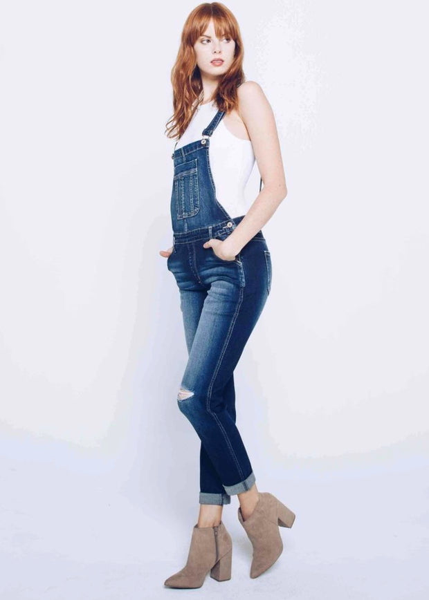 Kancan Rosie Denim Overall (Dark Wash)