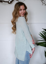 My Cozy Spring Sweater (Mint)