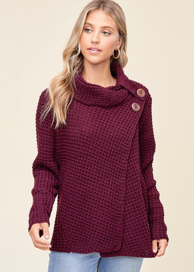 Staccato Snuggle Up Sweater (Plum)
