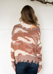 My Cozy Pink Camo Sweater