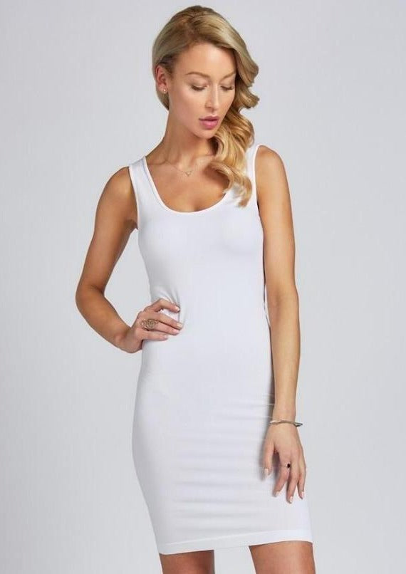 C'est Moi Bamboo Tank Layering Dress (9 colours)