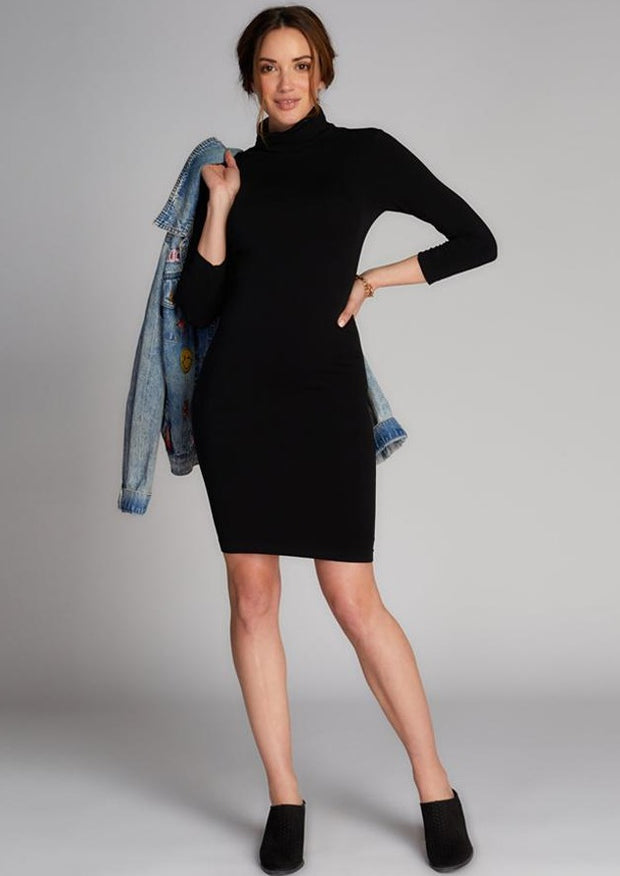 C'est Moi TurtleNeck Dress (Black)