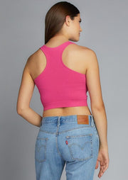 Bamboo Racerback Bralette (Bright Pink)
