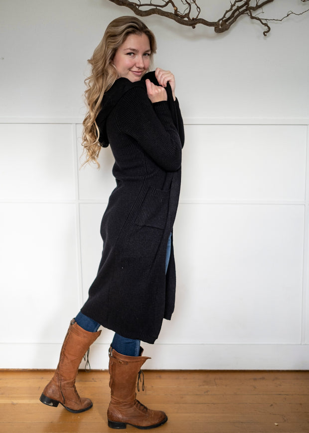 My Cozy Ribbed Cardi (Black)