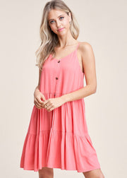Staccato Summers Dress (Coral)