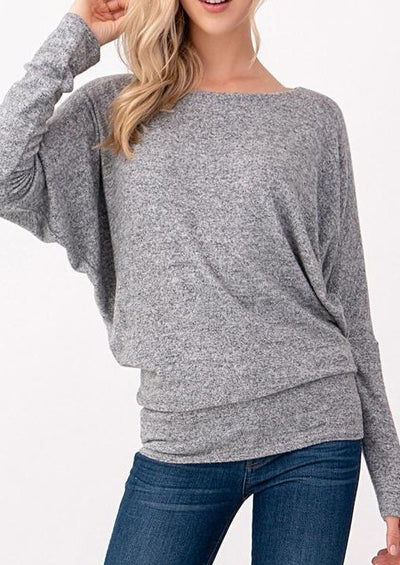 Natural Vibe Brushed Top (Heather Grey)