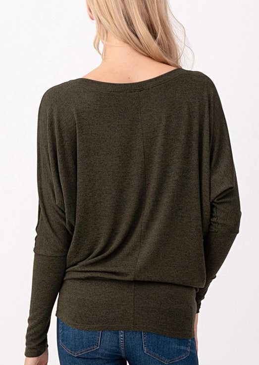 Natural Vibe Knit Long Sleeve (Olive)