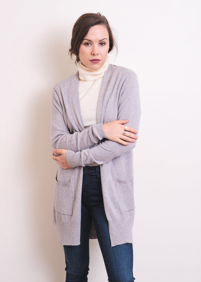 Dreamy Lightweight Cardigan (Heather Grey)