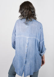 Catwalk Oversized Button Down (Denim)