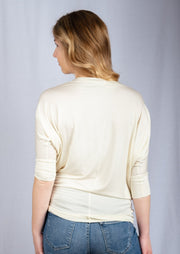 Natural Vibe Modal Round Neck Top (Vanilla)